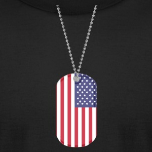 US MILITARY TAG T-Shirts - Men's T-Shirt by American Apparel