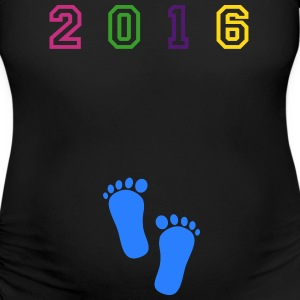 2016 Mommy and Me Rainbow-Blk - Women's Maternity T-Shirt