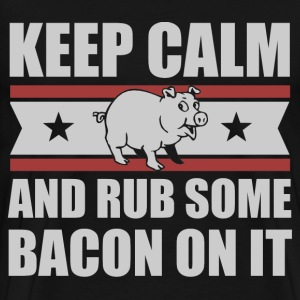 Keep Calm Bacon Lover T-Shirts - Men's Premium T-Shirt