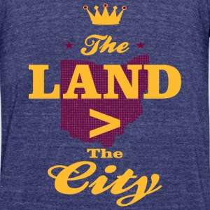 The Land Cleveland Pride T-Shirts - Unisex Tri-Blend T-Shirt by American Apparel