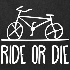 bicycle ride or die bike cycle wheels cycling  Bags & backpacks - Tote Bag