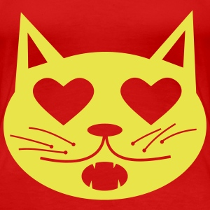 Cat in Love Women's T-Shirts - Women's Premium T-Shirt