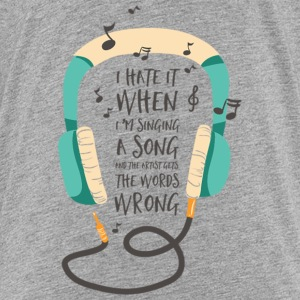 Singing the wrong words Kids' Shirts - Kids' Premium T-Shirt