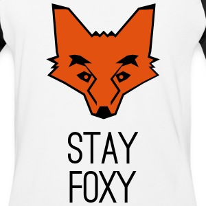 fox stay foxy orange head animal smart clever T-Shirts - Baseball T-Shirt