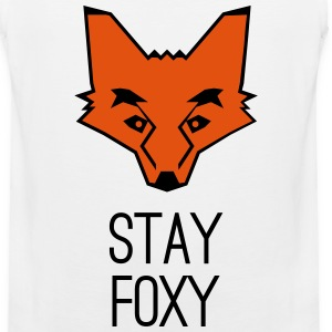 fox stay foxy orange head animal smart clever Sportswear - Men's Premium Tank