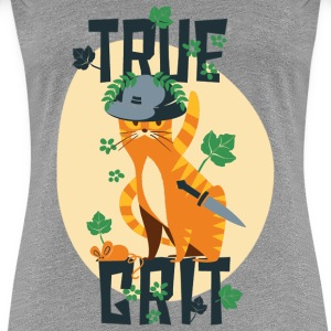 True Grit Cat Women's T-Shirts - Women's Premium T-Shirt