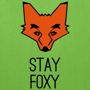 fox stay foxy orange head animal smart clever Bags & backpacks - Tote Bag