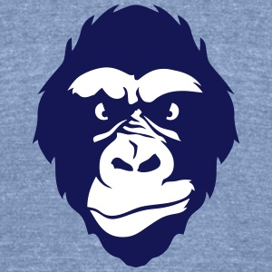 gorilla nasty look 0 T-Shirts - Unisex Tri-Blend T-Shirt by American Apparel