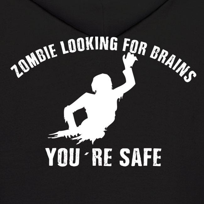 Zombie Brains Men's Hoodie