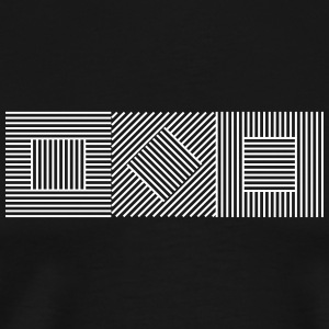 Abstract Geometry 07A T-Shirts - Men's Premium T-Shirt