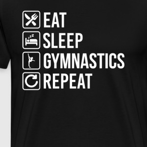 Gymnastics Eat Sleep Repeat T-Shirts - Men's Premium T-Shirt