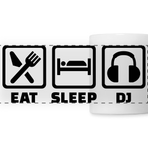 Eat sleep DJ Mugs & Drinkware - Panoramic Mug