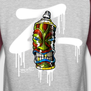 SPRAY A TIKI (Z-01) Hoodies - Colorblock Hoodie