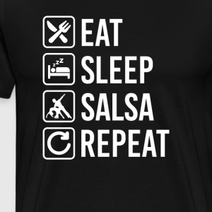Salsa Eat Sleep Repeat T-Shirts - Men's Premium T-Shirt