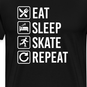 Roller Skates Eat Sleep Repeat T-Shirts - Men's Premium T-Shirt