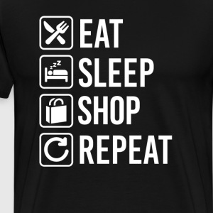 Shopping Eat Sleep Repeat T-Shirts - Men's Premium T-Shirt