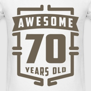 Awesome 70 Years Old - Men's T-Shirt