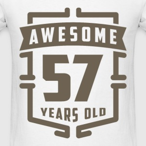 Awesome 57 Years Old - Men's T-Shirt