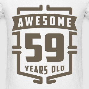 Awesome 59 Years Old - Men's T-Shirt