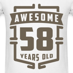 Awesome 58 Years Old - Men's T-Shirt