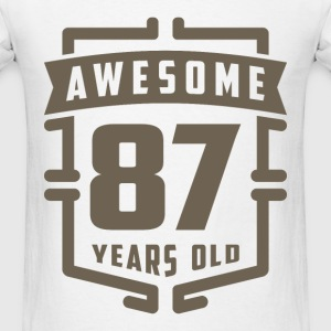Awesome 87 Years Old - Men's T-Shirt