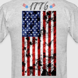 4th of July Grunge Flag-1776 T-Shirts - Men's T-Shirt