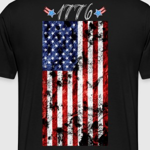 4th of July Grunge Flag-1776 T-Shirts - Men's Premium T-Shirt
