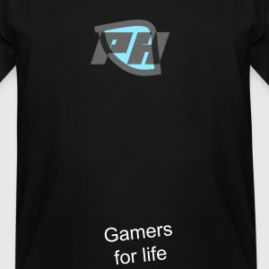 PH'S logo and text saying Gamers for life - Men's Tall T-Shirt