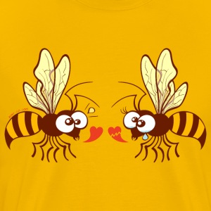 Bees expressing opposite points of view about love T-Shirts - Men's Premium T-Shirt