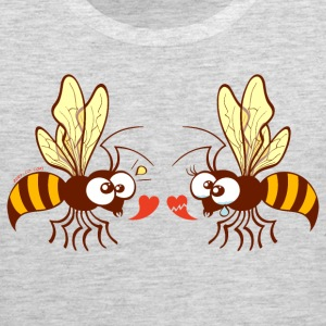 Bees expressing opposite points of view about love Sportswear - Men's Premium Tank