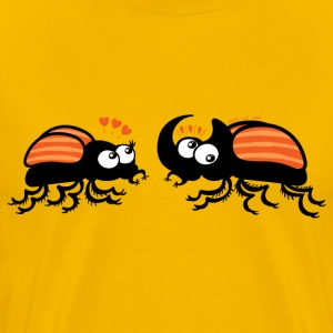 Rhinoceros beetles falling in love T-Shirts - Men's Premium T-Shirt