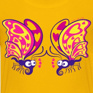 Beautiful butterflies madly falling in love Kids' Shirts - Kids' Premium T-Shirt