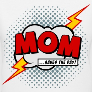 Mom saves the day Women's T-Shirts - Women's V-Neck T-Shirt