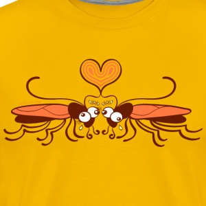 Ugly cockroaches passionately falling in love T-Shirts - Men's Premium T-Shirt
