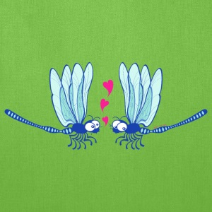 Cute dragonflies shyly falling in love Bags & backpacks - Tote Bag