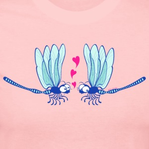 Cute dragonflies shyly falling in love Long Sleeve Shirts - Women's Long Sleeve Jersey T-Shirt