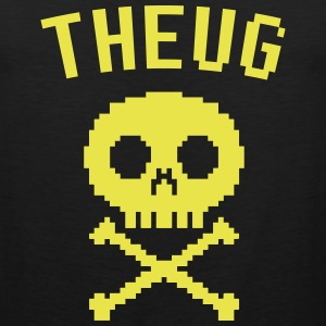 The Urban Geek Yellow Pixel Skull - Men's Premium Tank