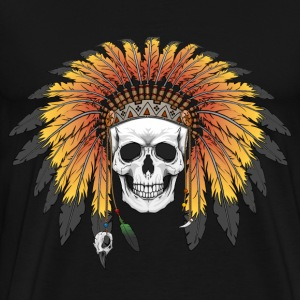 Skull Native American T-Shirts - Men's Premium T-Shirt