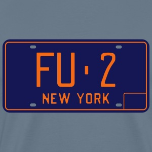 Retro 1966 Fulton County New York License Plate T- - Men's Premium T-Shirt
