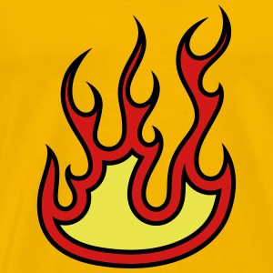Fire flames design T-Shirts - Men's Premium T-Shirt