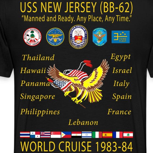 USS NEW JERSEY 1983-84 CRUISE SHIRT