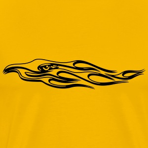 Fire flame bird T-Shirts - Men's Premium T-Shirt