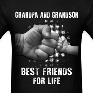 Grandpa And Grandson Best Friends For Life T-Shirts - Men's T-Shirt