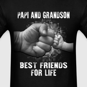 Papi And Grandson Best friends For Life T-Shirts - Men's T-Shirt