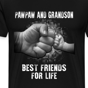 Pawpaw And Grandson Best Friends For Life T-Shirts - Men's Premium T-Shirt