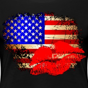 Kisses for America Women's T-Shirts - Women's Premium T-Shirt