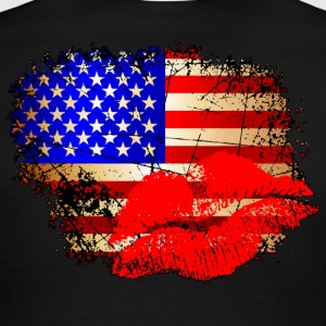 Kisses for America T-Shirts - Men's Ringer T-Shirt