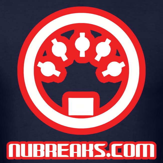Nubreaks.com White with Red Trim Large Front/Back