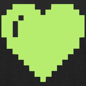 Light Green Pixel Heart - Men's T-Shirt by American Apparel