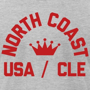 North Coast Indians Flock Print on Heather Gray -  - Men's T-Shirt by American Apparel